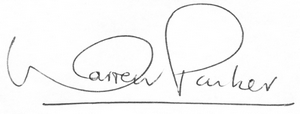 Warren Parker signature