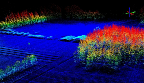 Scion's nursery in 3D modelled from data captured 60 m above ground