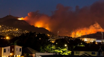 urban fire image